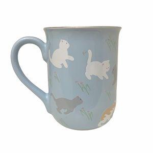 VINTAGE Otagiri Japanese Blue Cat Coffee Mug